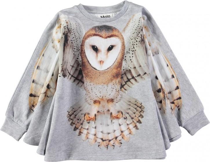 Molo Mädchen Langarm-Sweat-Shirt-Cape MARIS flying Owl