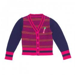 Mim-Pi Cardigan/Strickjacke navy pink