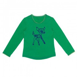 Mim-Pi Langarm-Shirt/Longsleeve Bambi grün