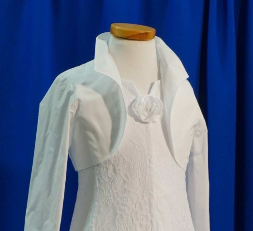MONNY Bolero TAFT mit Kragen weiß