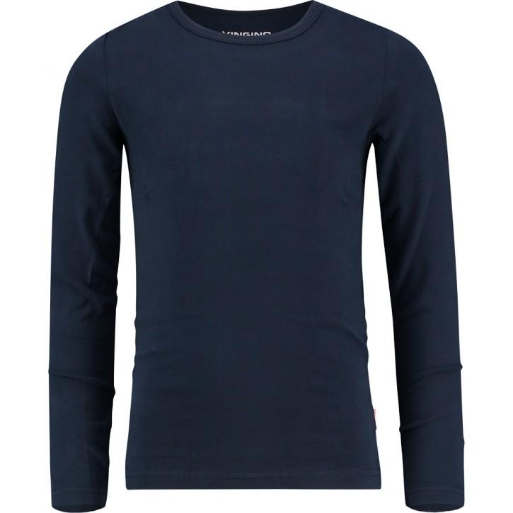Vingino Basic-Longsleeve Shirt Girls Rundhals-Ausschnitt dark blue