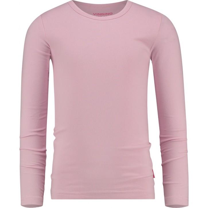 Vingino Basic-Longsleeve Shirt Girls Rundhals-Ausschnitt pink bloom
