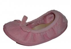 NATURAL WORLD Mädchen Ballerina Hausschuhe rosa