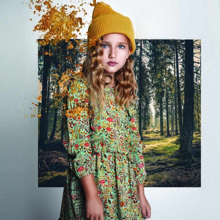 Paper Wings Kleid WINTER FIELD multicolor