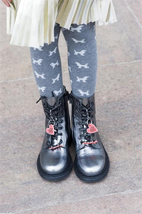 Bonnie Doon Strumpfhose POODLE med grey heather