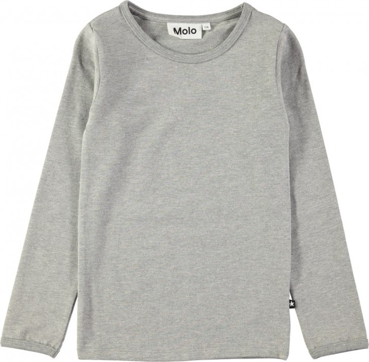 Molo Mädchen Langarm-Shirt/Longsleeve RAMONA grey melange