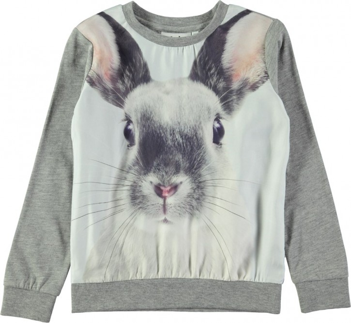 Molo Mädchen Sweat-Shirt/Langarm-Shirt RENITA Winter Hare