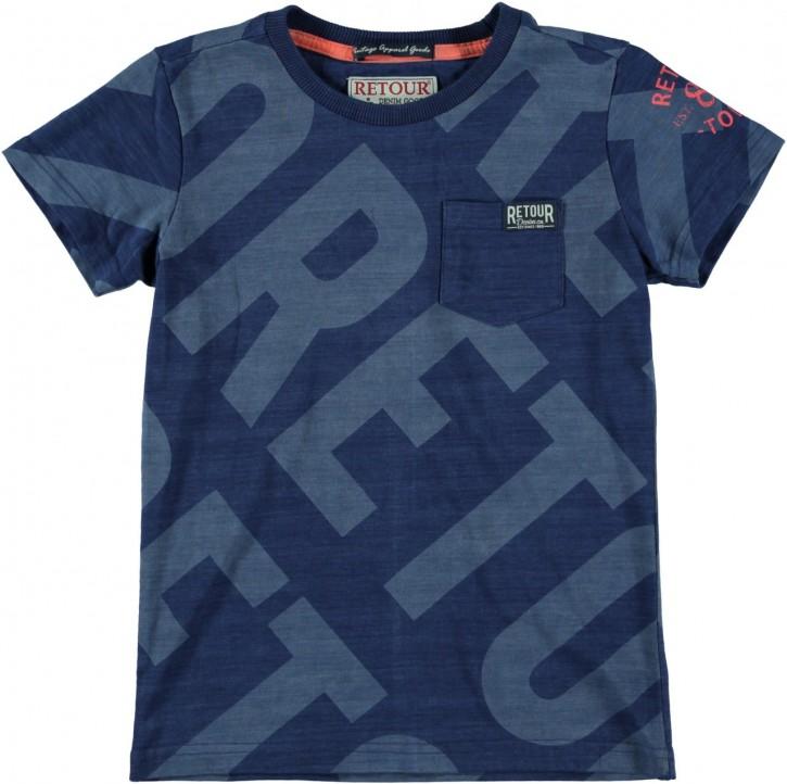 RETOUR DENIM T-Shirt FEDDE B indigo blue