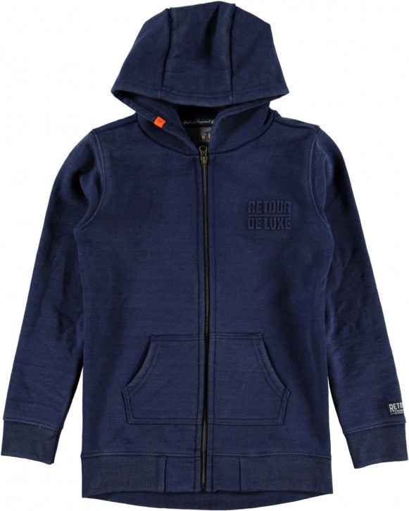RETOUR DENIM Kapuzen-Sweat-Jacke JULIAN B indigo blue