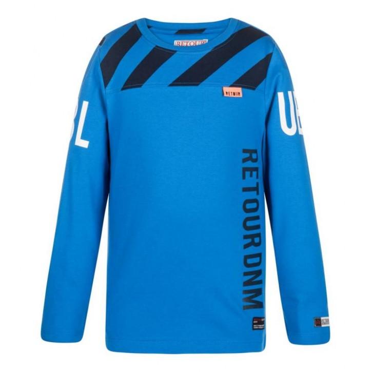 RETOUR DENIM Langarm-Shirt/Longsleeve XAVIER blue