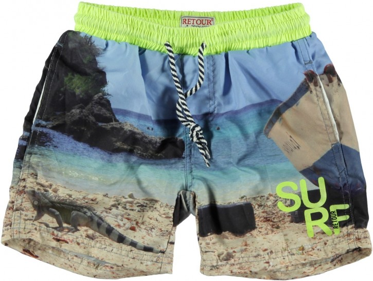 RETOUR DENIM Bade-Bermuda/Shorts STANLY neon yellow