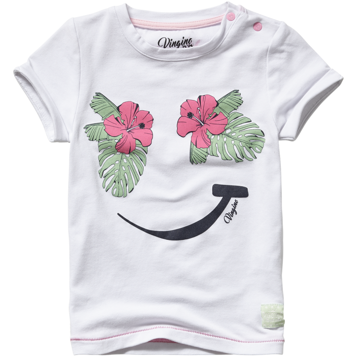 Vingino Mini Mädels T-Shirt INKY real white