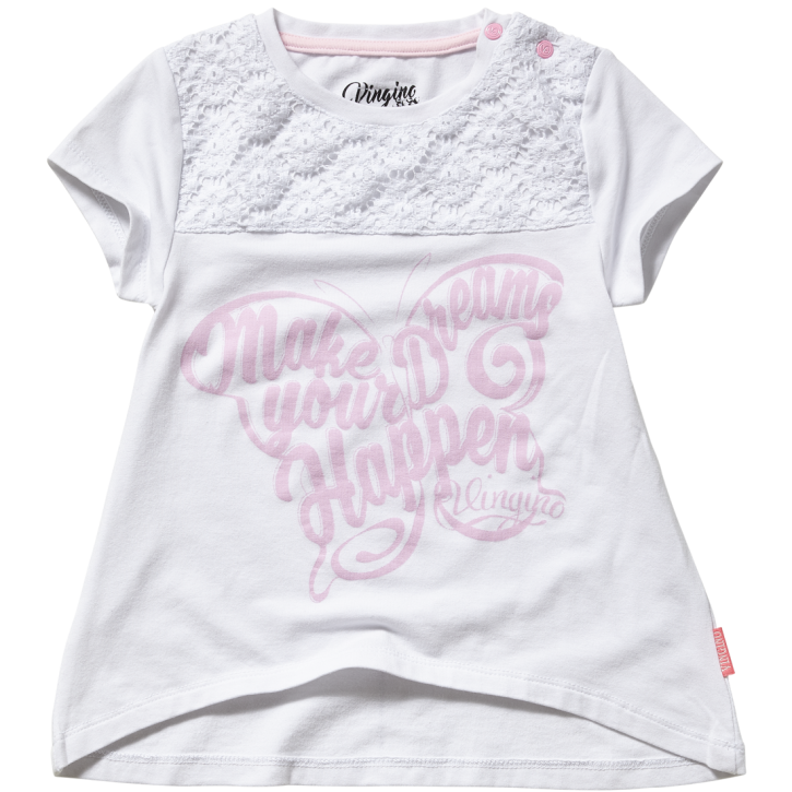 Vingino Mini Mädels T-Shirt INDRA real white