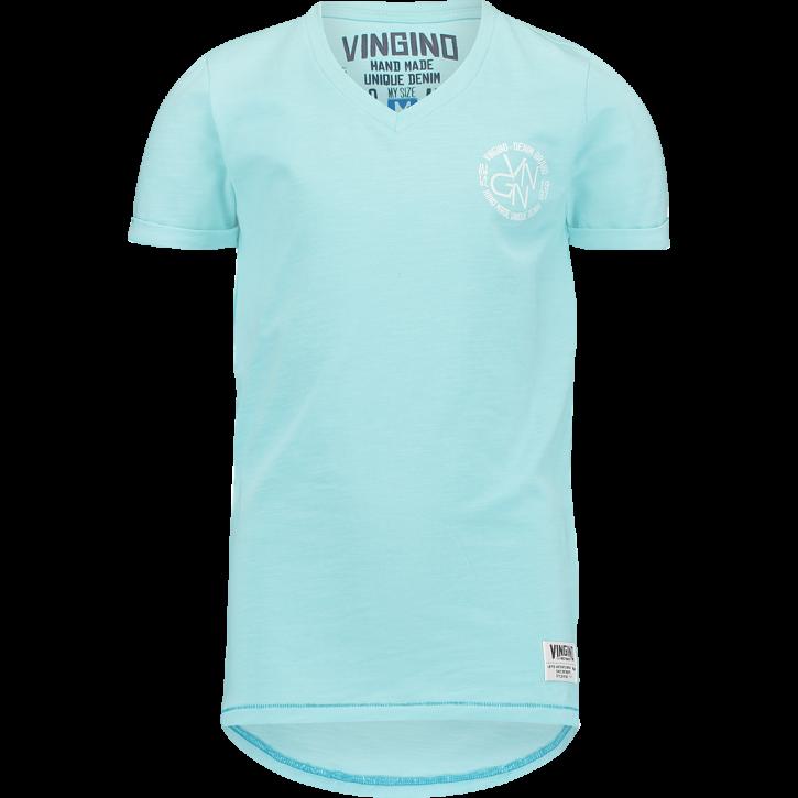 Vingino T-Shirt V-Ausschnitt HERSI island blue