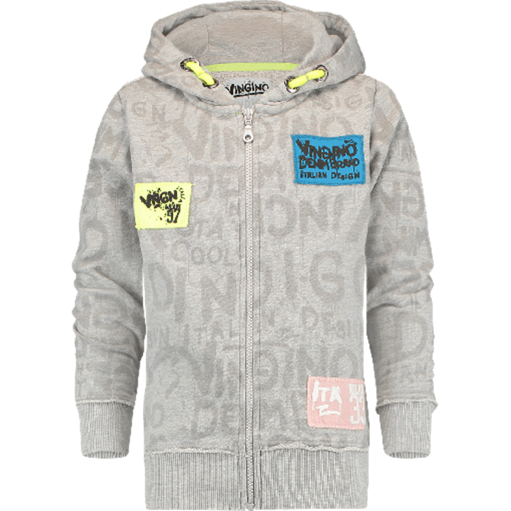 Vingino Kapuzen-Sweat-Jacke OGUN light grey mele