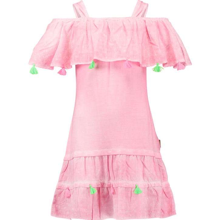 Vingino Off-Shoulder Kleid PEBBIE candy pink