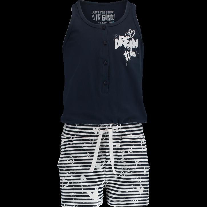 Vingino Schlafanzug/Pyjama/Jumpsuit kurz WENS dark blue