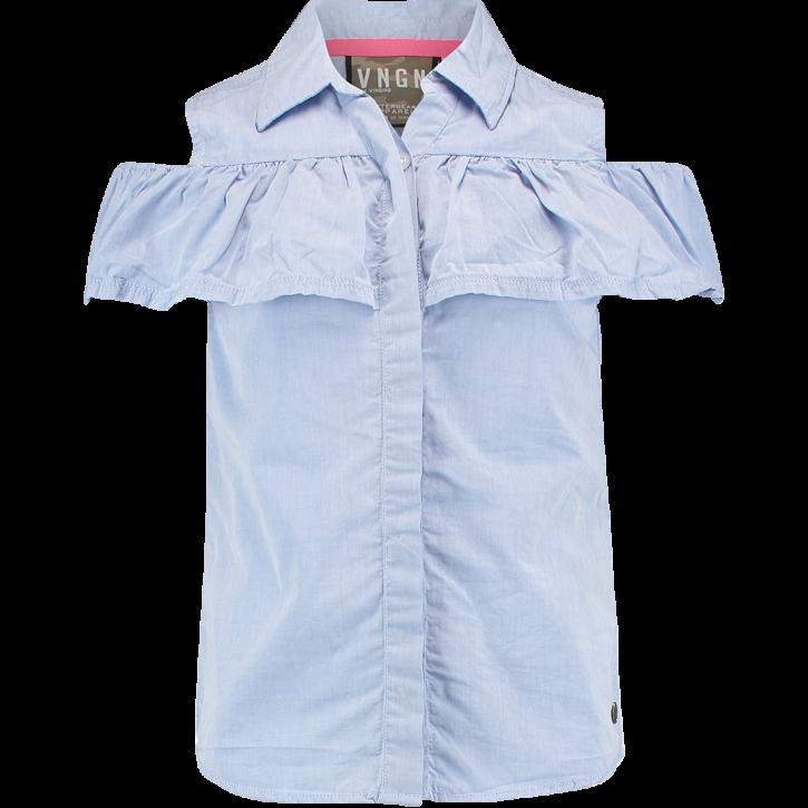 Vingino Off-Shoulder Bluse LOWIE island blue