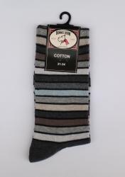 """Bonnie Doon Socken Streifen """"Polychrome"""" dunkelgrau"""