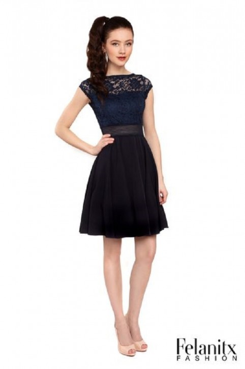 FELANITX festives Kleid Konfirmation navy