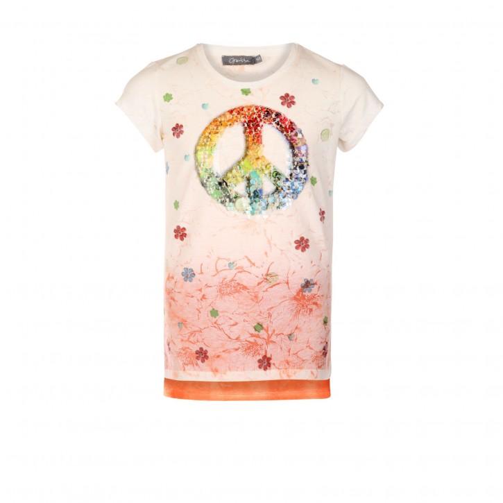 Geisha T-Shirt Peace Pailletten multicolor