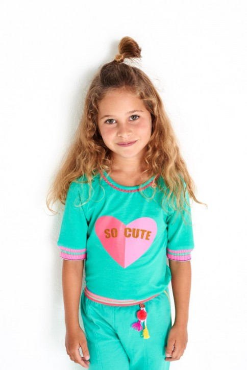 Mim-Pi T-Shirt Herz SO CUTE green