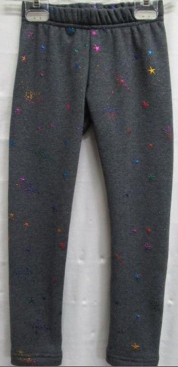Topo Legging Thermo-Legging Glitzer-STERNE grau