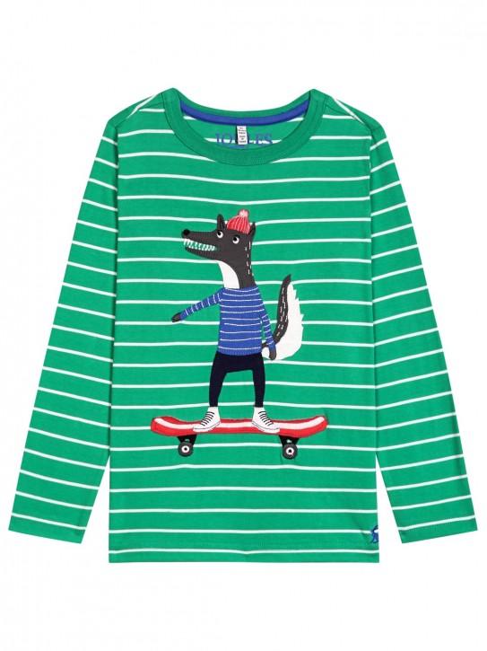 Joules Jungen Langarm-Shirt/Longsleeve JACK Streifen grün weiß