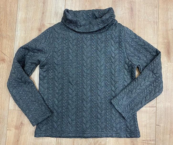 Topo Sweat-Shirt mit Zopfmuster grau