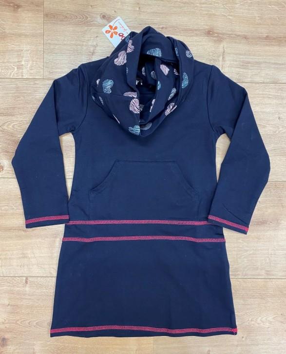 Topo Langarm-Kleid mit Loop navy