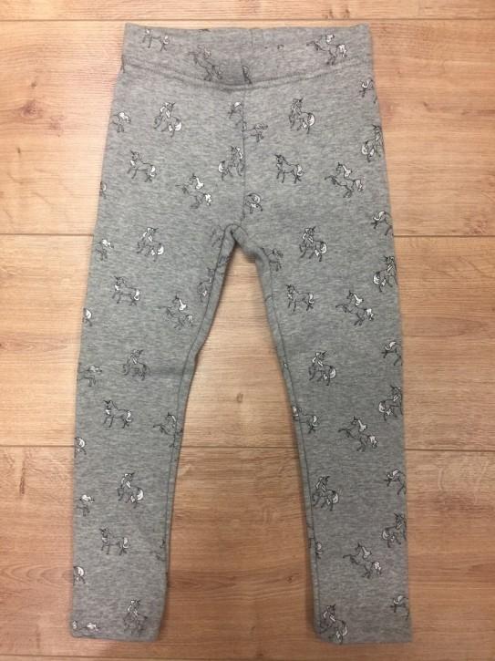 Topo Legging Thermo-Legging Einhorn grau