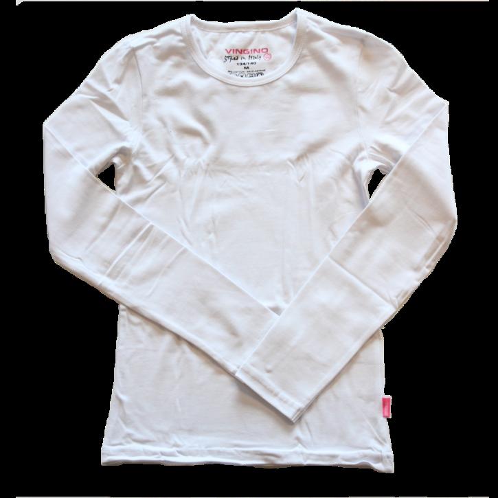 Vingino Basic-Longsleeve Shirt Boys Rundhals-Ausschnitt weiß