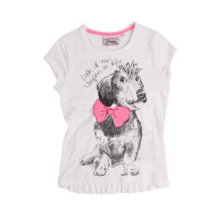 Vingino T-Shirt JENNY real white Hund