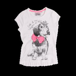 Vingino T-Shirt JENNY real white Hund
