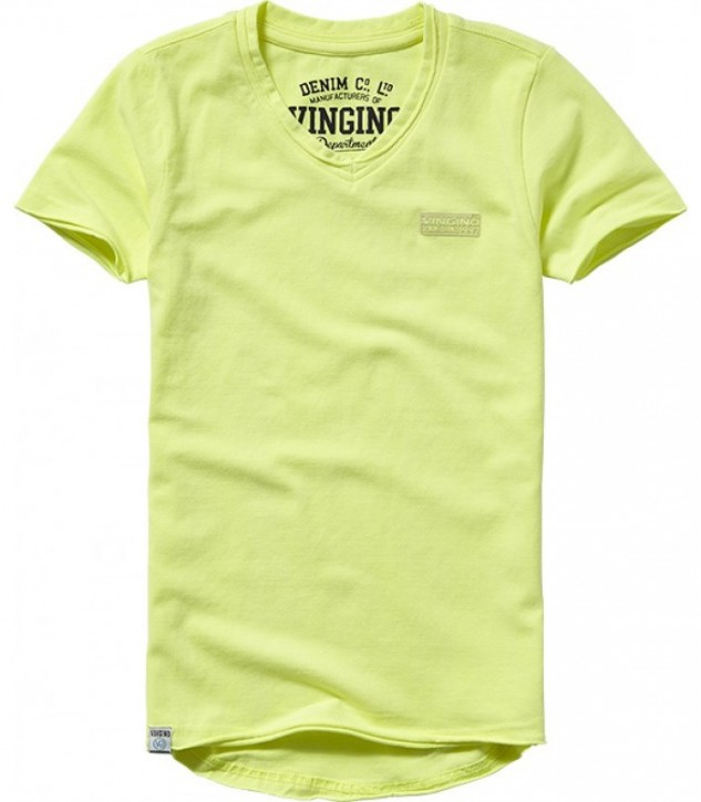 Vingino Basic T-Shirt V-Neck HELLOW soft neon yellow