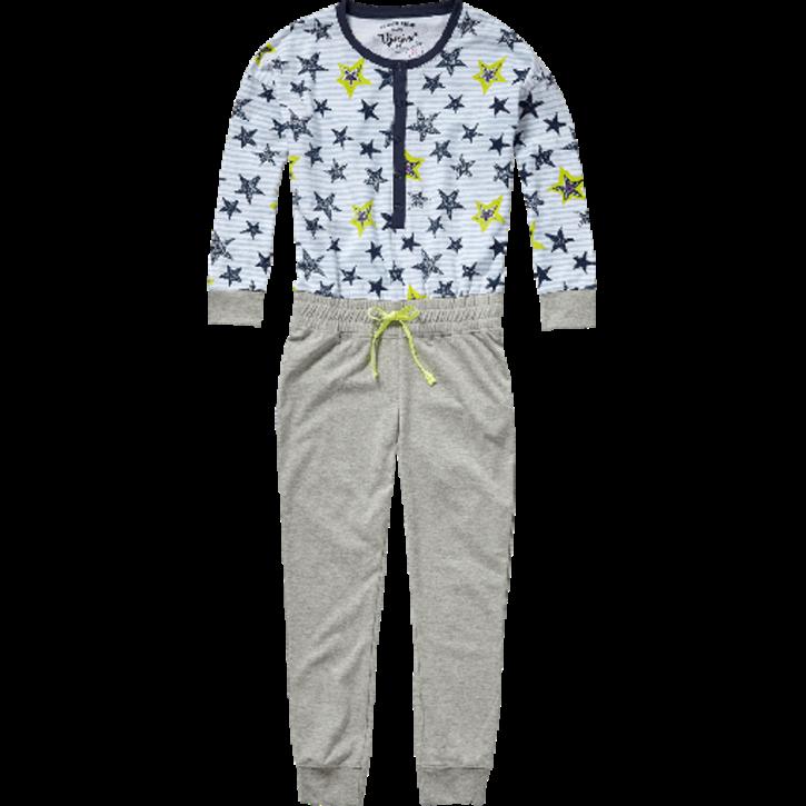 Vingino Schlafanzug/Pyjama Jumpsuit WIEZE real white