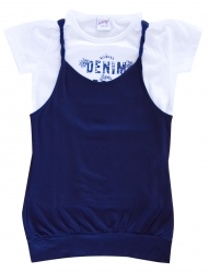 Whoopi T-Shirt und Top weiss blau