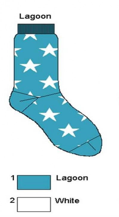 Bonnie Doon Socken A STAR IS BORN lagoon