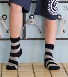 Bonnie Doon Kinder Socken Streifen navy-grau