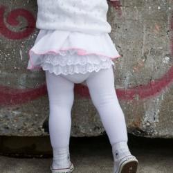 Bonnie Doon Baby Strumpfhose LACE BACK weiß