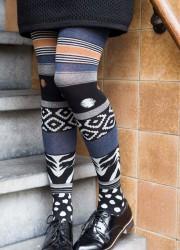 Doon Damen-Strumpfhose AFRICAN MIX schwarz/navy