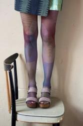 Bonnie Doon Damen-Strumpfhose GEOMETRIC FUSION black-bunt
