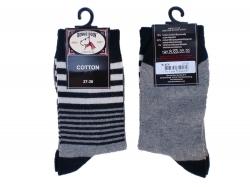 Bonnie Doon Breton Streifen Socken schwarz