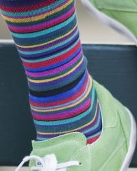 """Bonnie Doon Strumpfhose """"Joyful Stripes"""" Streifen schwarz"""