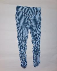 Carbone Raff-Legging blau-weiss Streifen
