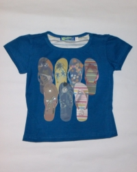 Carbone T-Shirt blau Flip Flop Print