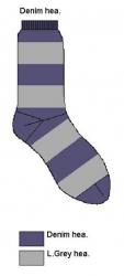 Bonnie Doon Kinder Socken Streifen denim-grau