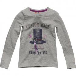 CKS Langarm-Shirt/Longsleeve GEORGIA light grey mele