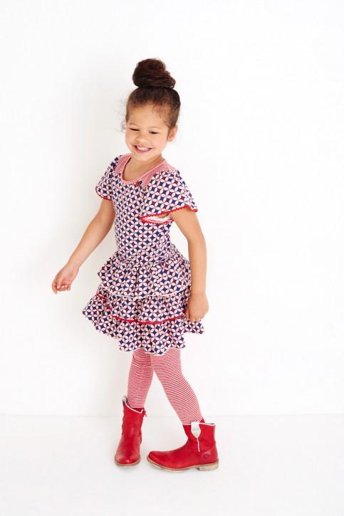 Mim-Pi Kurzarm-Kleid rot-weiß-blau