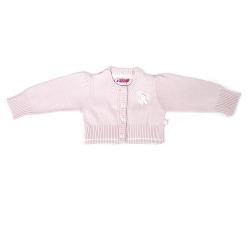 Ducky Beau Strick-Jacke / Cardigan rosa